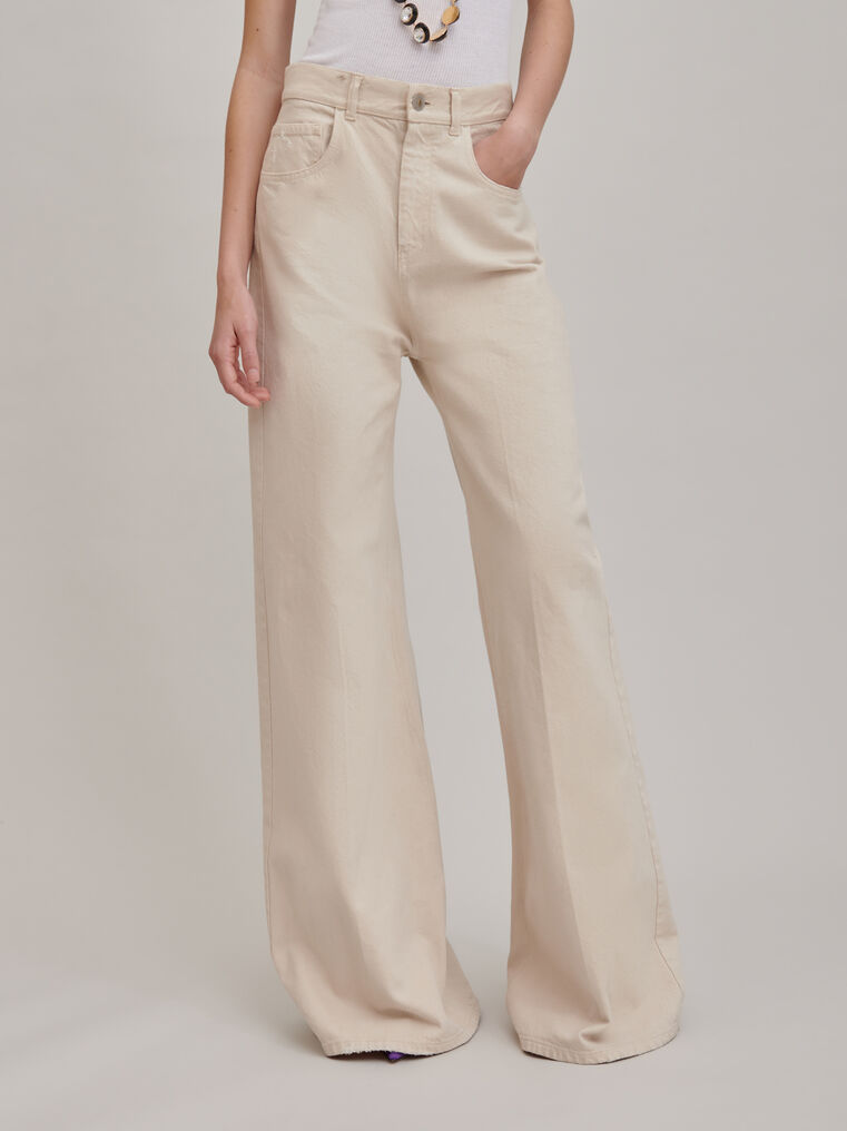"The Attico ""Mica"" white denim pants 3"