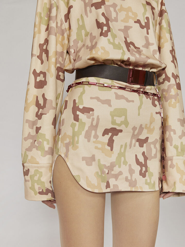 "THE ATTICO ""Palmer"" camouflage mini dress 2"