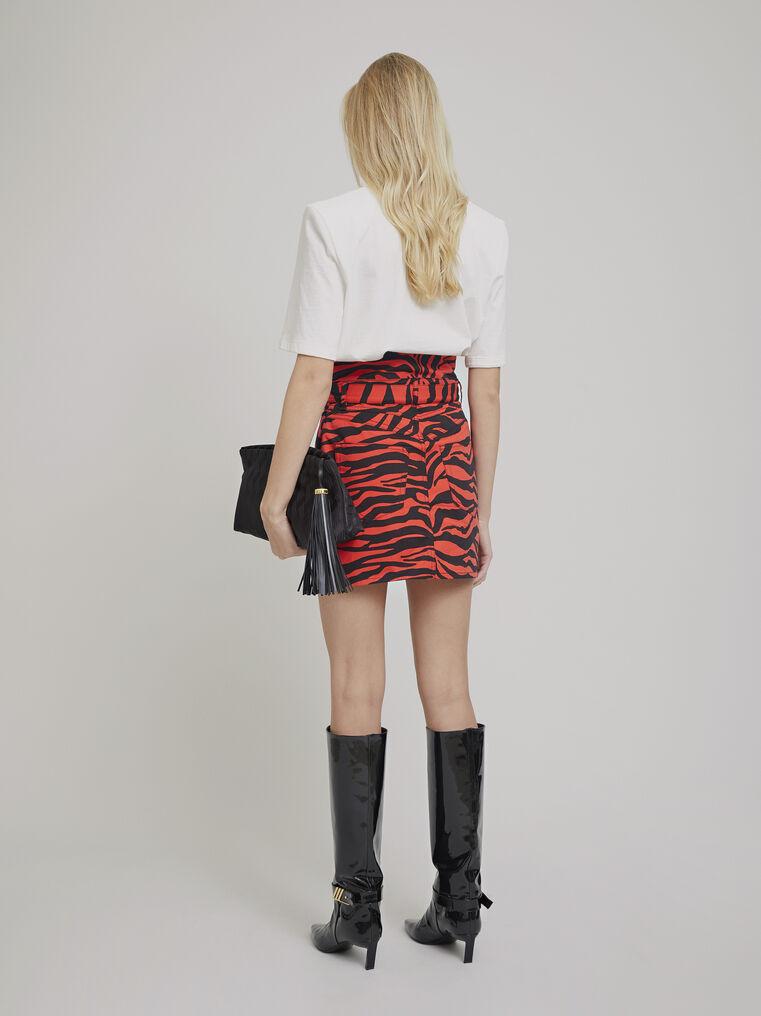 """The Attico """"Virgi"""" red and black zebra print mini skirt 3"""