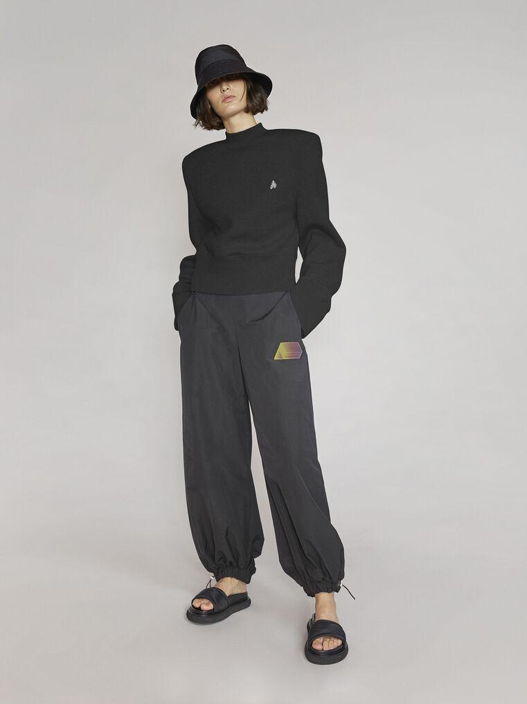 "THE ATTICO ""Kenna"" black sweatshirt 1"