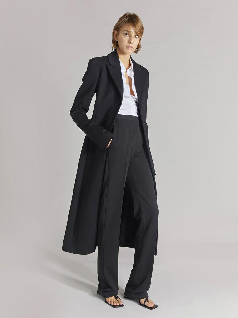 """THE ATTICO """"Milla"""" black fitted coat 1"""
