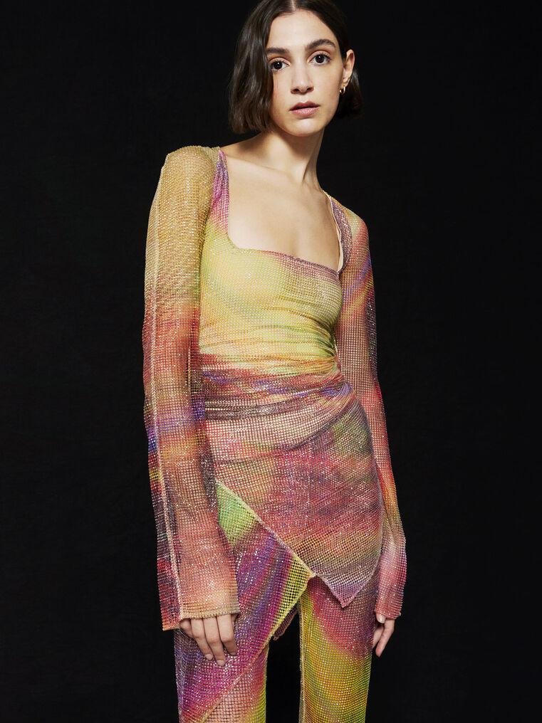 THE ATTICO ''Anemone'' multicolor mini dress 2