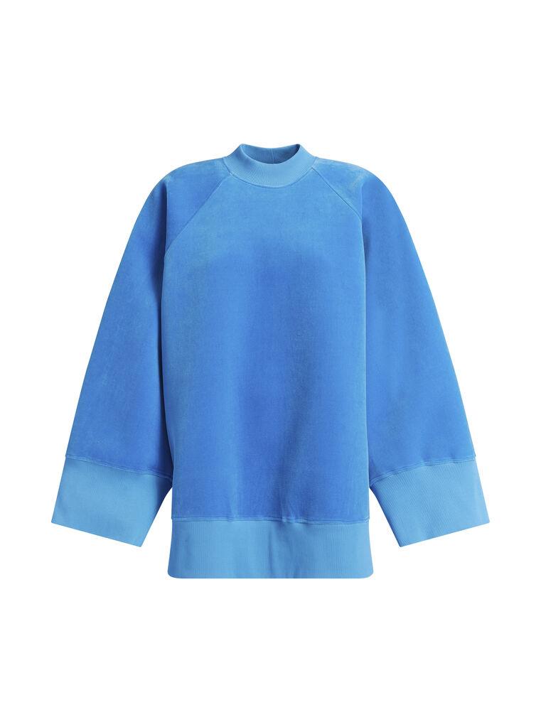 "THE ATTICO ""Vincen"" turquoise oversize sweatshirt 4"