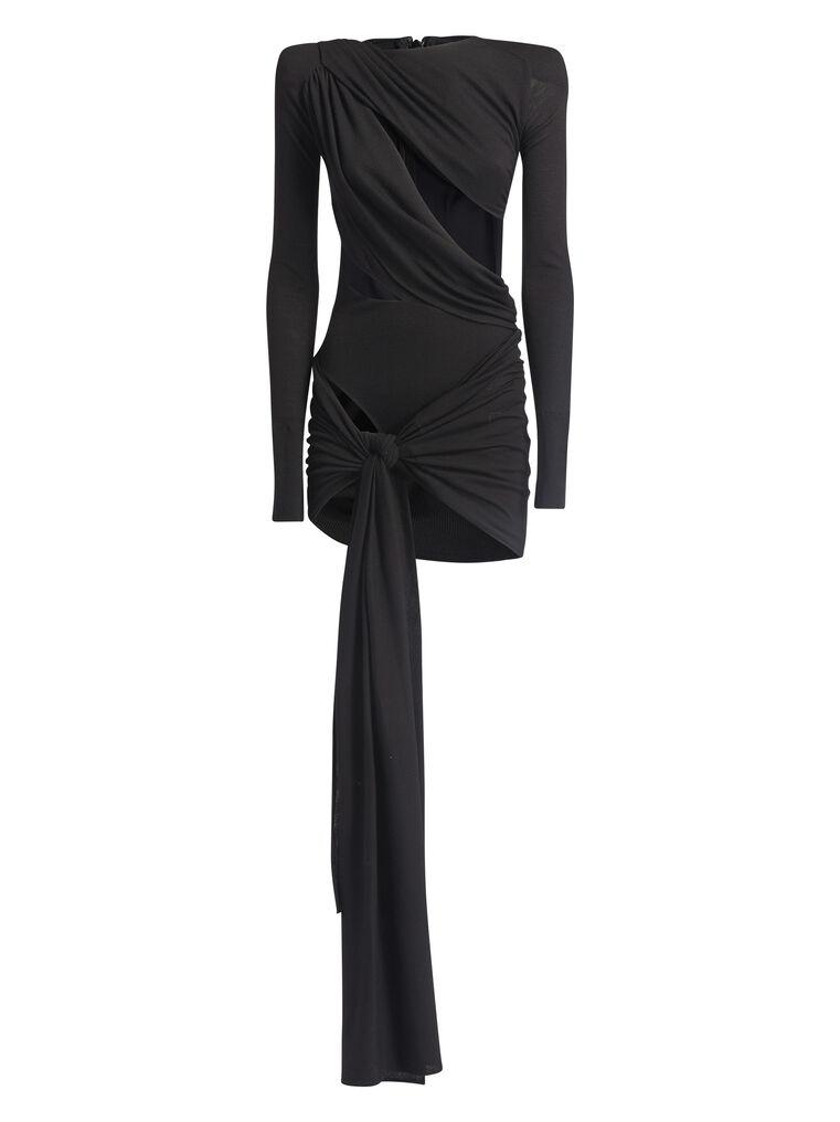 """THE ATTICO """"Brigit"""" black mini dress 4"""