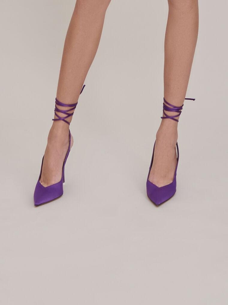 """The Attico """"Venus"""" violet slingback 2"""