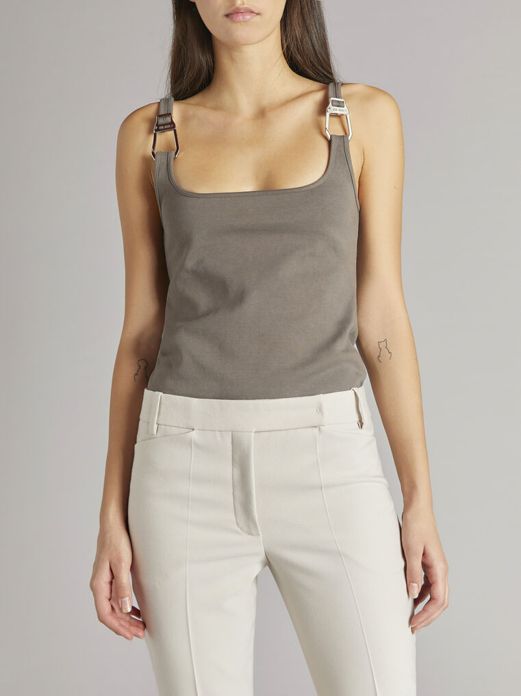 """THE ATTICO """"Beca"""" taupe tank top 2"""