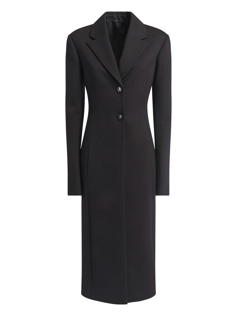 """THE ATTICO """"Milla"""" black fitted coat 4"""