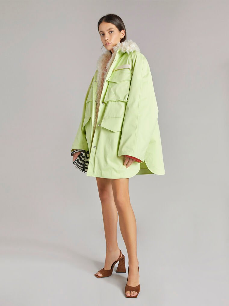 """THE ATTICO """"Janet"""" pale yellow field jacket 1"""