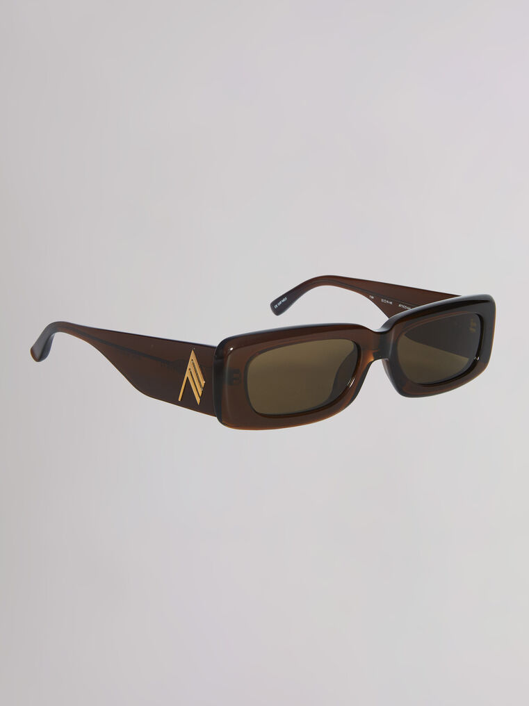 """THE ATTICO """"Mini Marfa"""" rum sunglasses 2"""