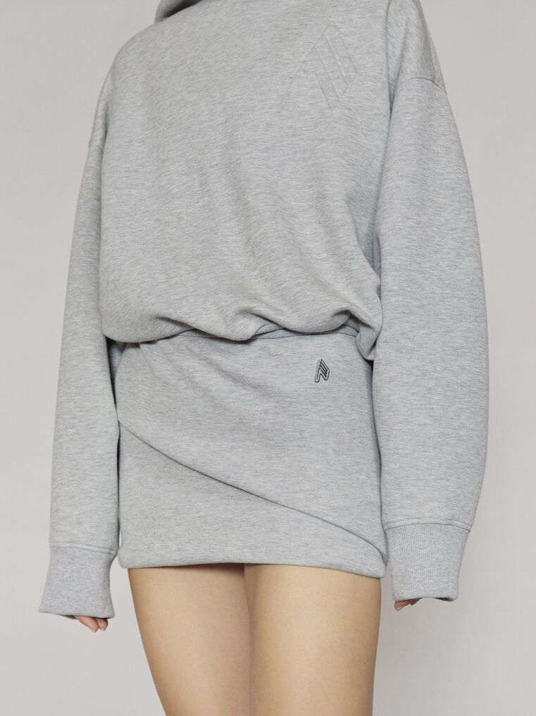 "THE ATTICO ""Ezra"" light grey mini skirt 2"