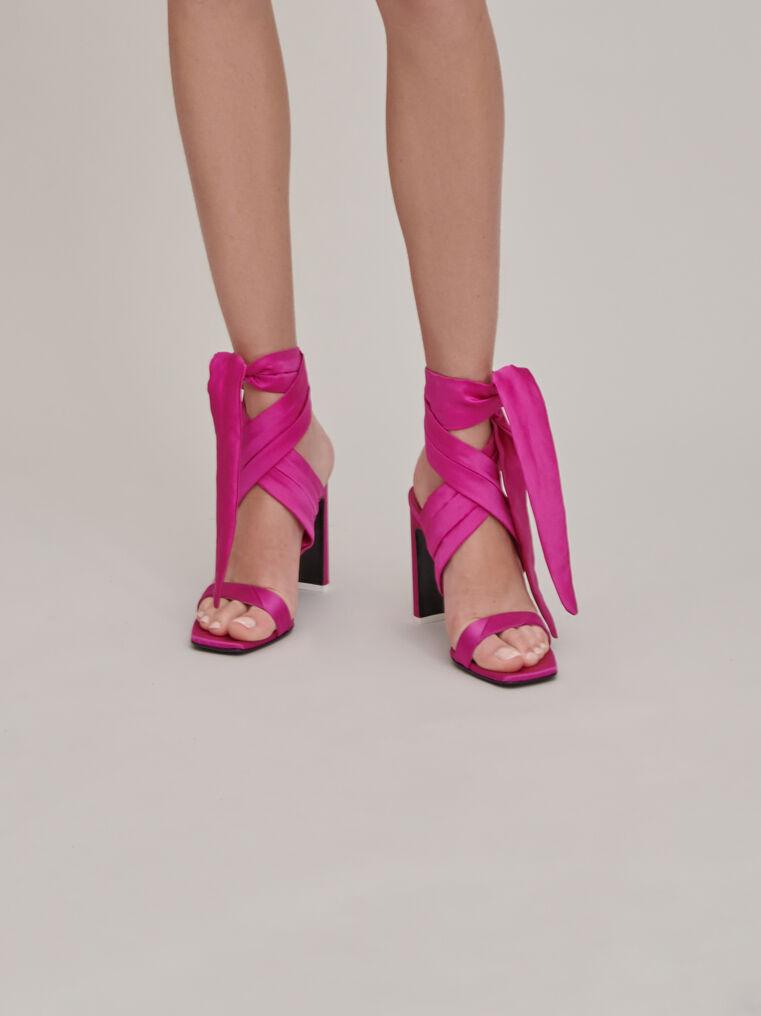 """The Attico """"Paris"""" fuchsia sandals 1"""