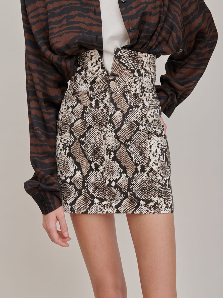 "The Attico ""Virgi"" python-printed mini skirt 2"