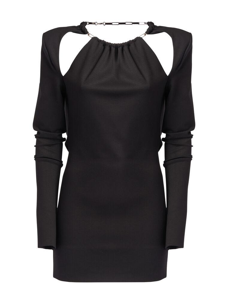 """THE ATTICO """"Elena"""" black mini dress 4"""