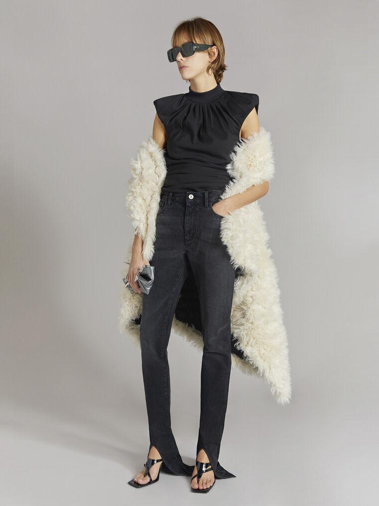 THE ATTICO Black skinny pants with slits 1