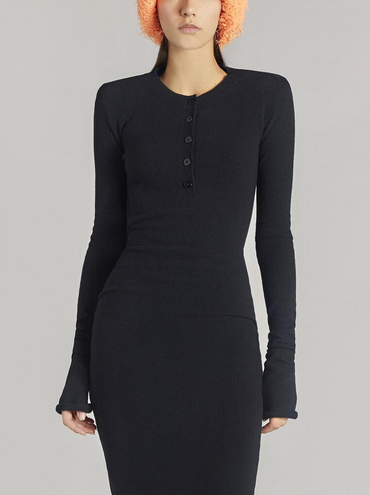 THE ATTICO Black midi dress 2