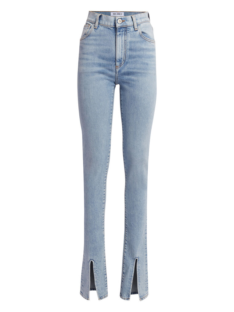 THE ATTICO Blue denim skinny pants 4