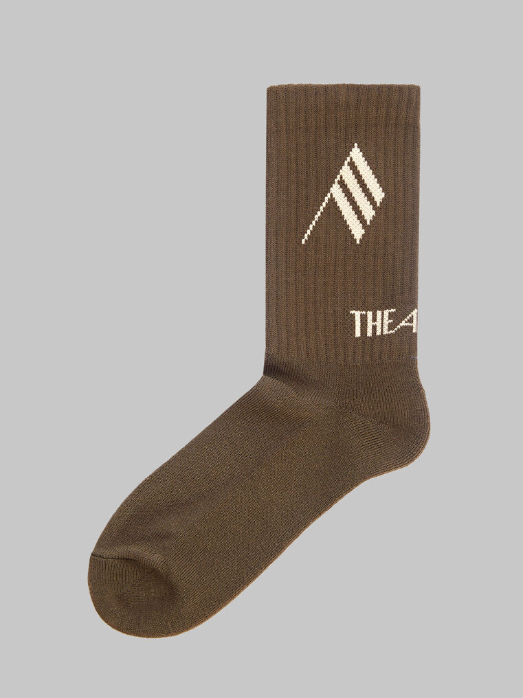 THE ATTICO Army bicolor sponge short socks 1