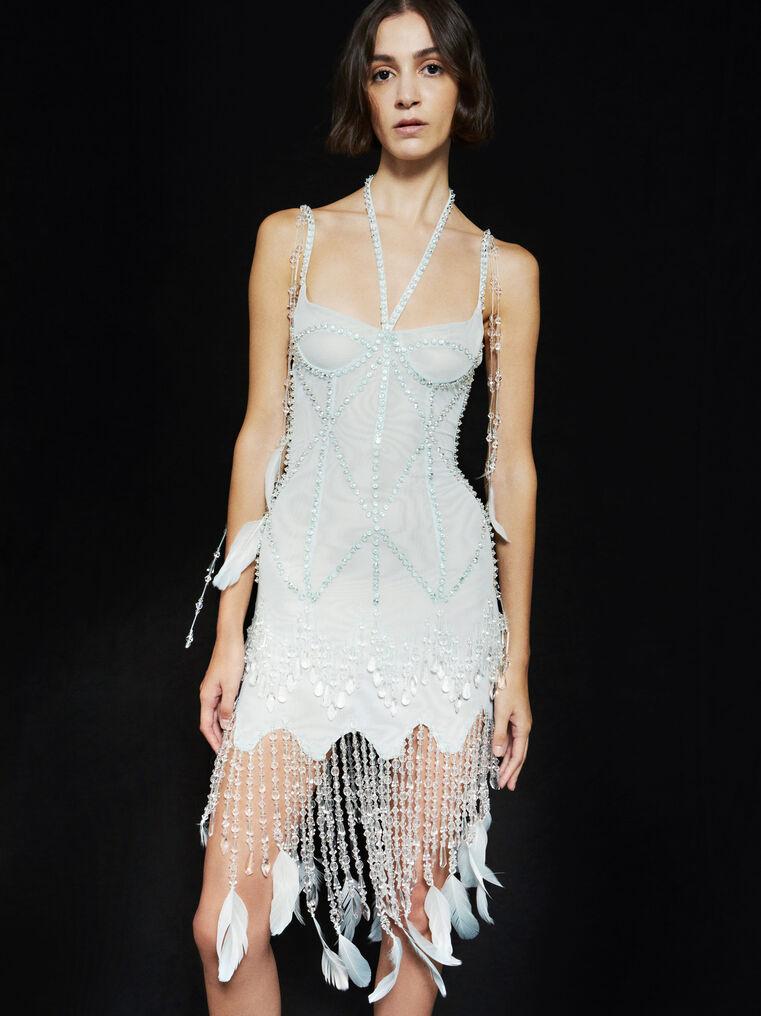 THE ATTICO ''Lily'' aquamarine bustier mini dress 2