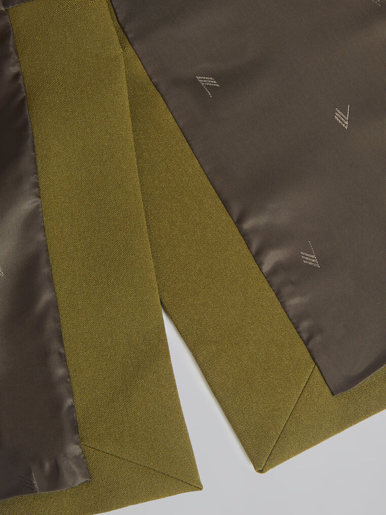"THE ATTICO ""Cat"" military green midi skirt 4"