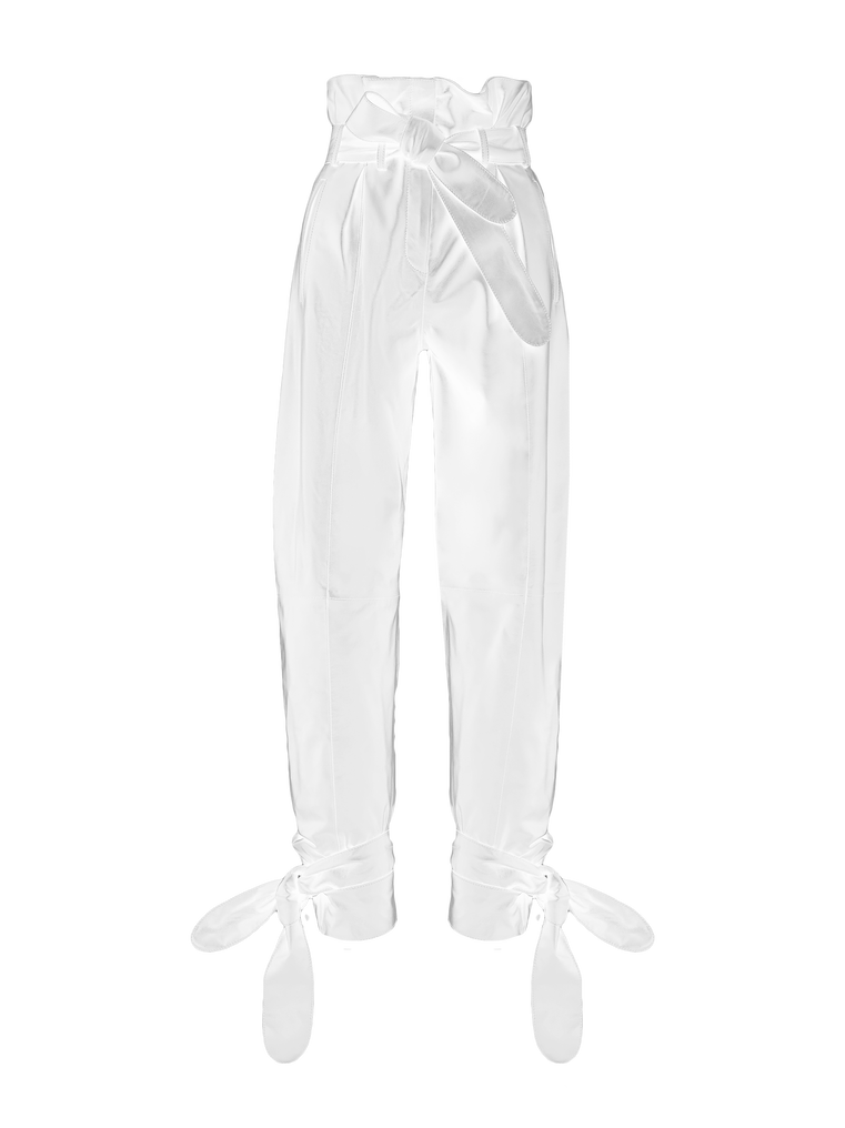 The Attico White high-rise pants 4