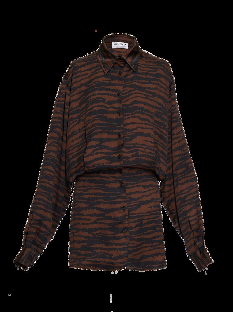 """The Attico """"Gigi"""" zebra print chemisier mini dress 4"""