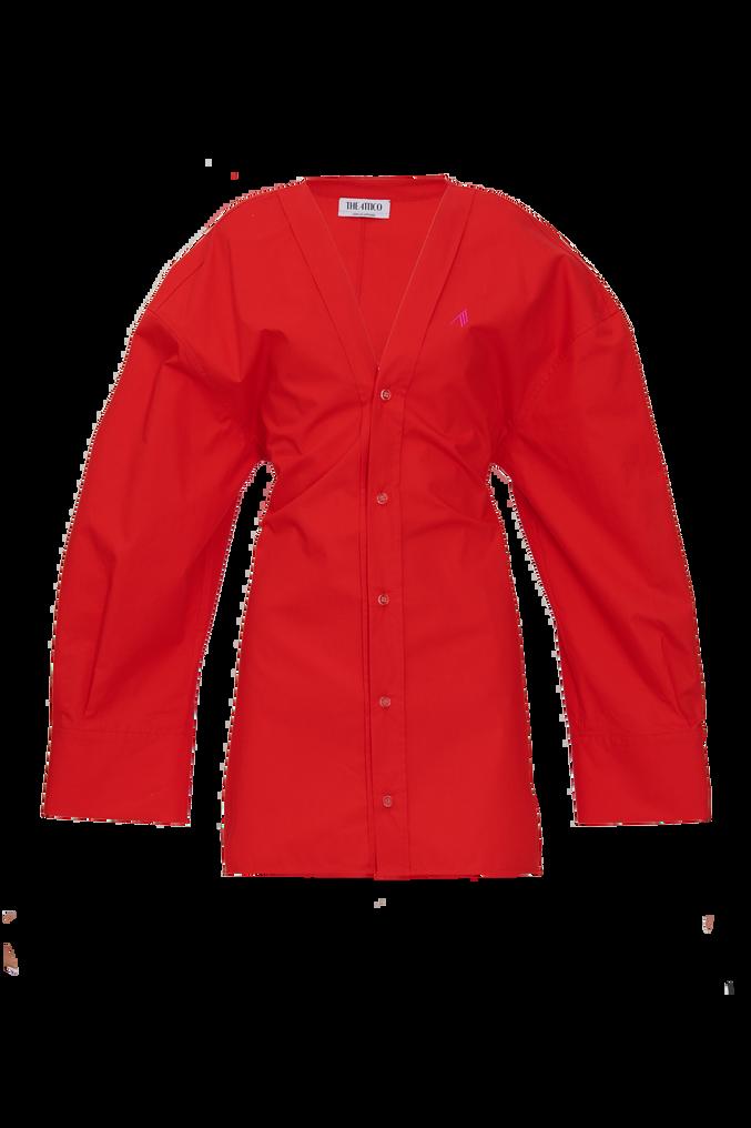 """The Attico """"Lala"""" red chemisier mini dress 4"""