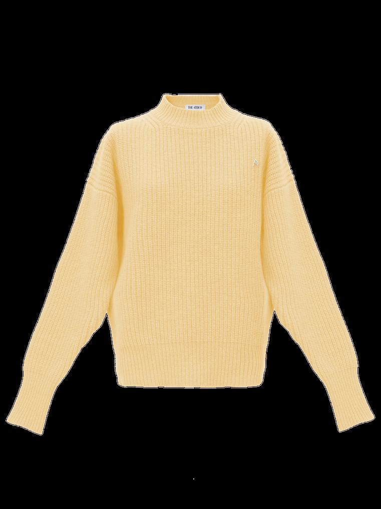 The Attico Yellow lambswool sweater 4
