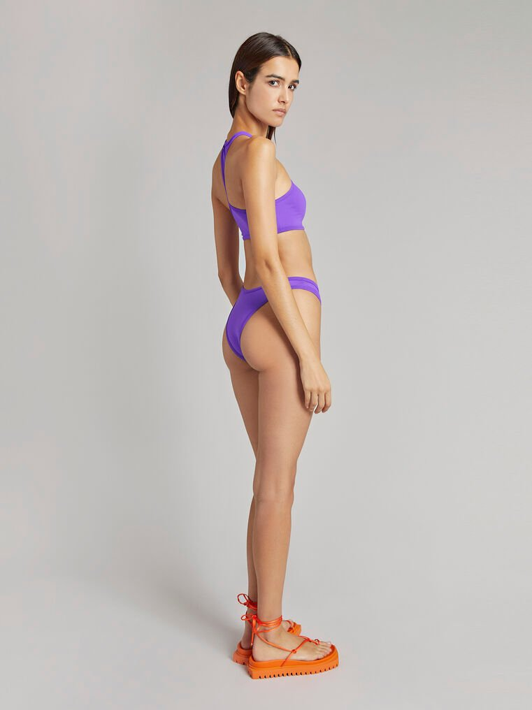 THE ATTICO Matte purple bikini top 3