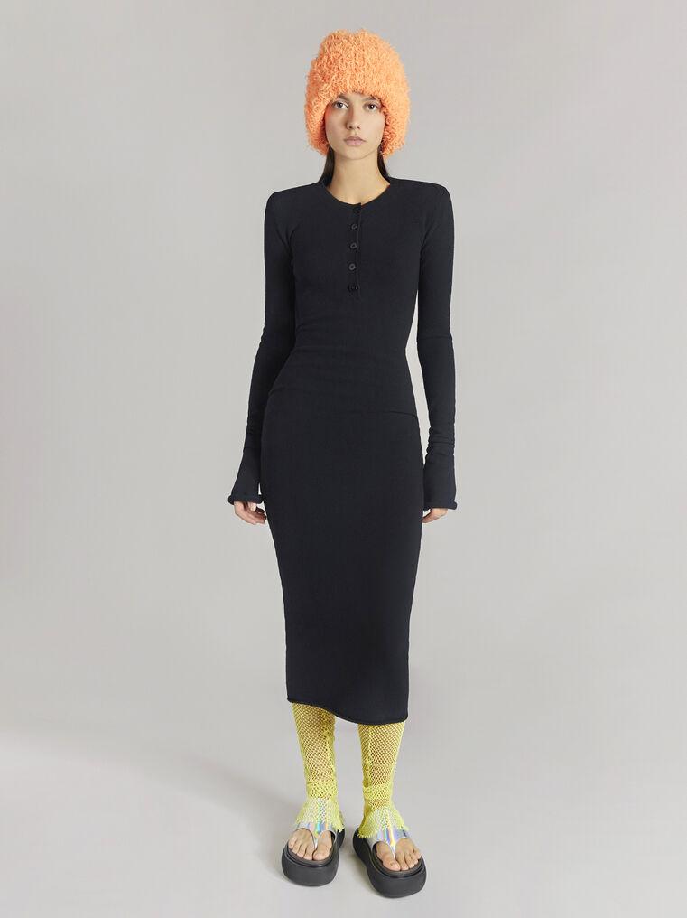 THE ATTICO Black midi dress 1