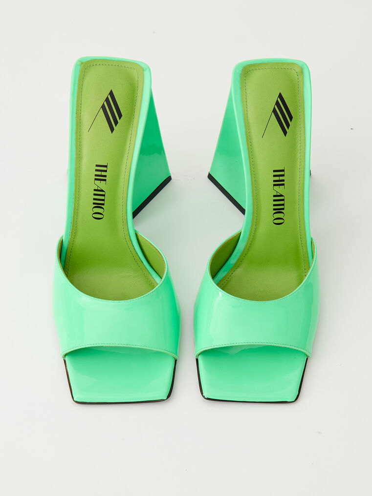 "The Attico ""Devon"" neon green mule 2"