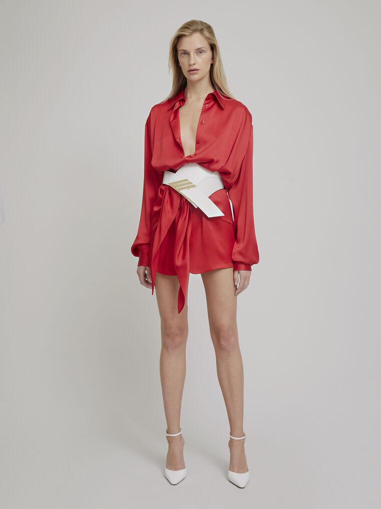 """The Attico """"Gigi"""" red chemisier mini dress 1"""