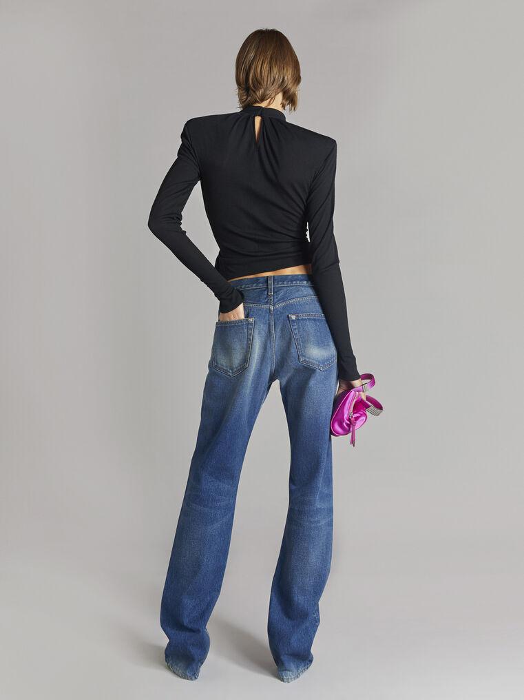 THE ATTICO Boyfriend dark blue jeans 3