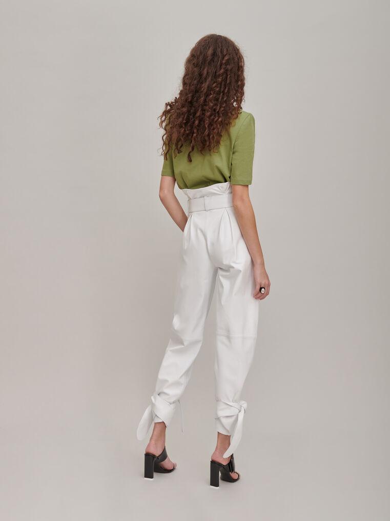 The Attico White high-rise pants 2