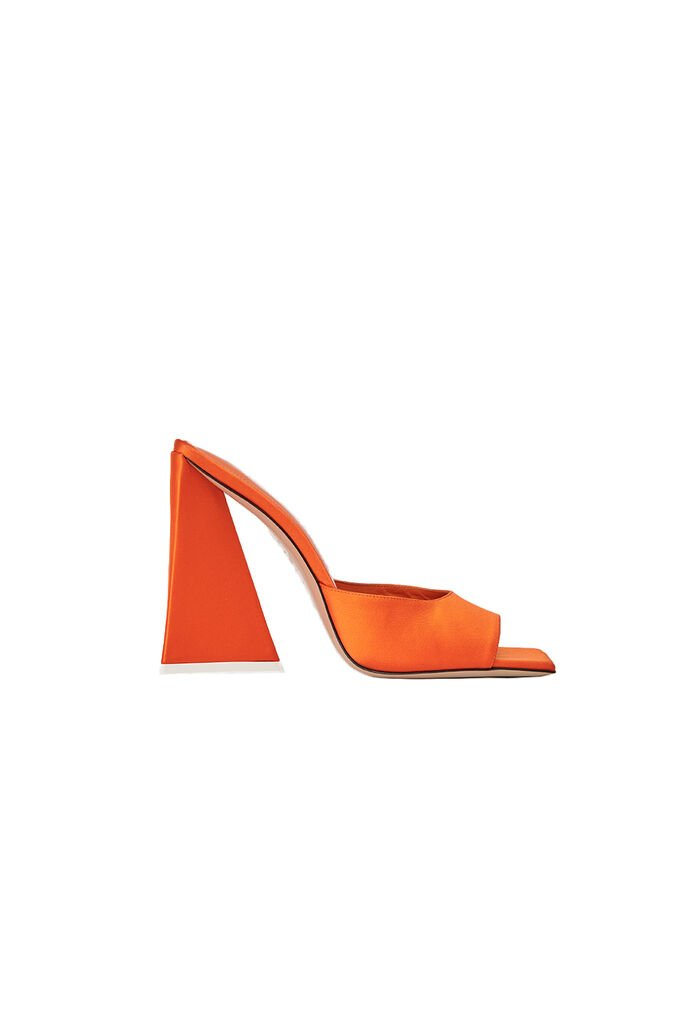"The Attico Orange satin ""Devon"" mule 4"