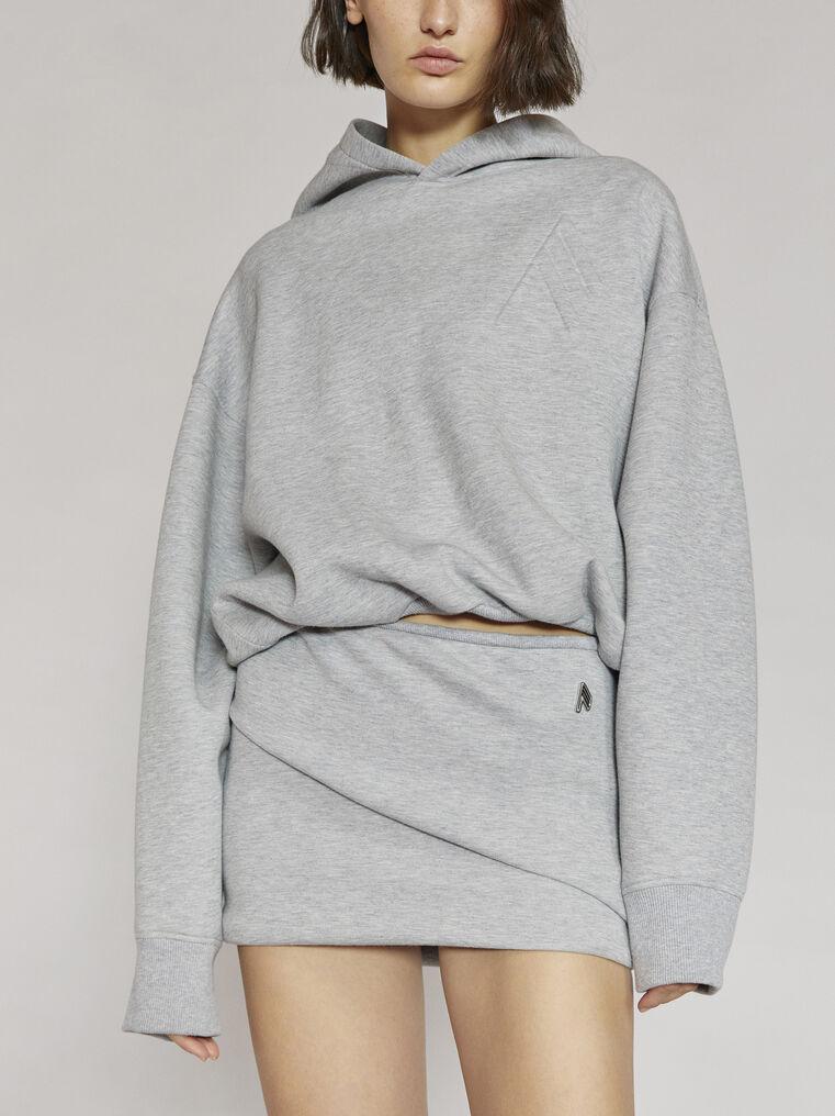 "THE ATTICO ""Maeve"" light grey sweater 2"