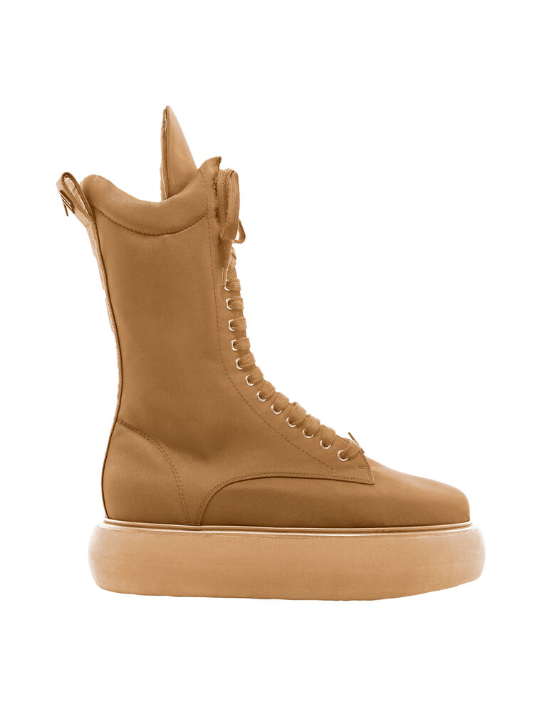 "THE ATTICO ""Selene"" camel boots flatform 4"