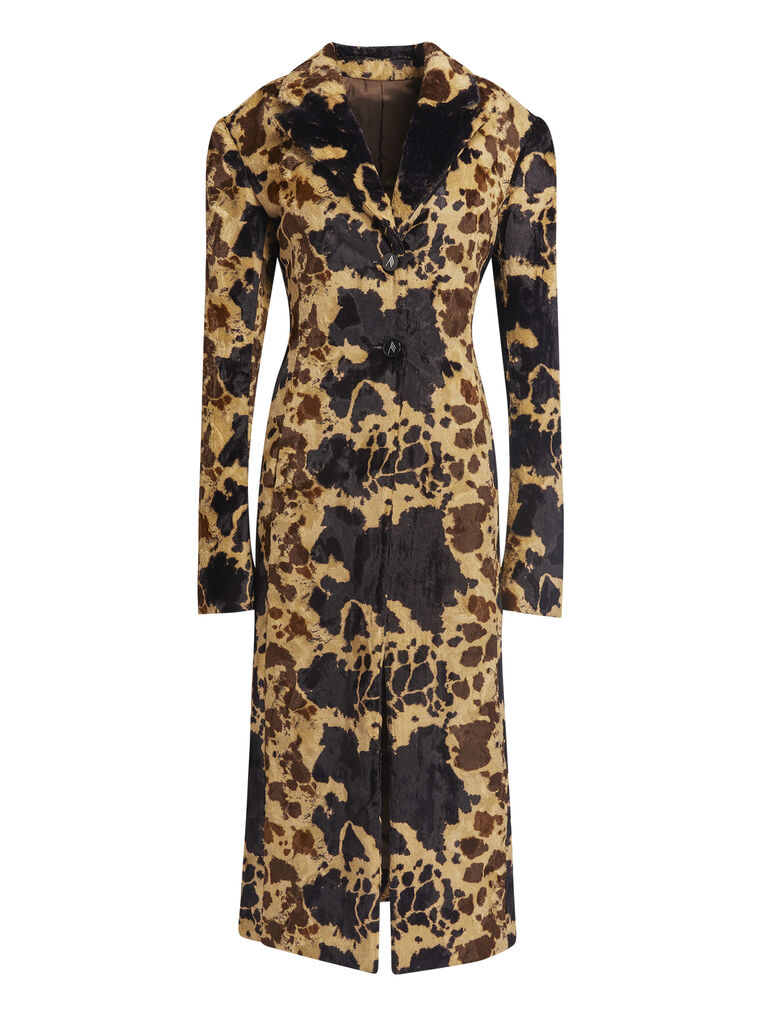 """THE ATTICO """"Milla"""" cow printed fitted coat 4"""