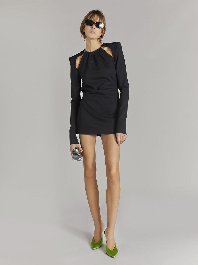 """THE ATTICO """"Elena"""" black mini dress 1"""
