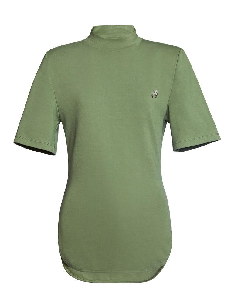 "THE ATTICO ""Tessa""olivine t-shirt 4"