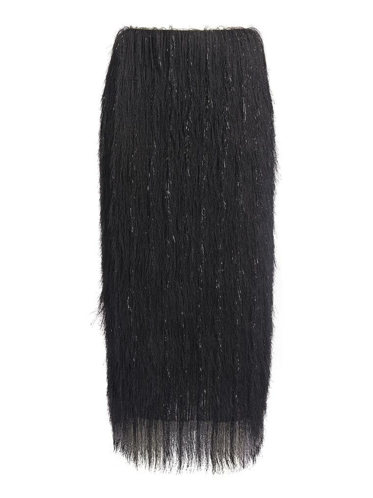 """THE ATTICO """"Alba"""" black pencil midi skirt 4"""
