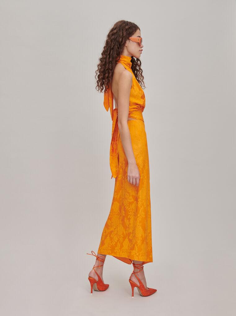 """The Attico """"Gia"""" orange long skirt 2"""