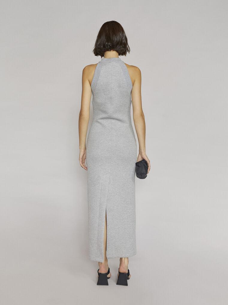 """THE ATTICO """"Ema"""" light grey long dress 3"""