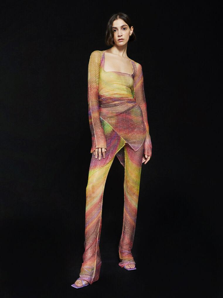 THE ATTICO ''Anemone'' multicolor mini dress 5