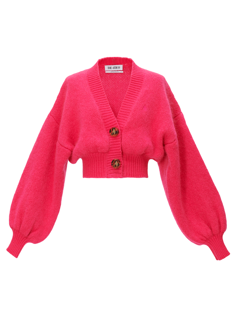 The Attico Pink mohair sweater 4