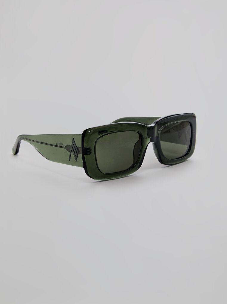 """THE ATTICO """"Marfa"""" military green sunglasses 1"""