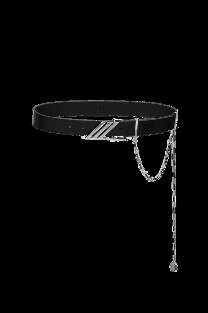 "The Attico ""Idra"" black leather belt 3"