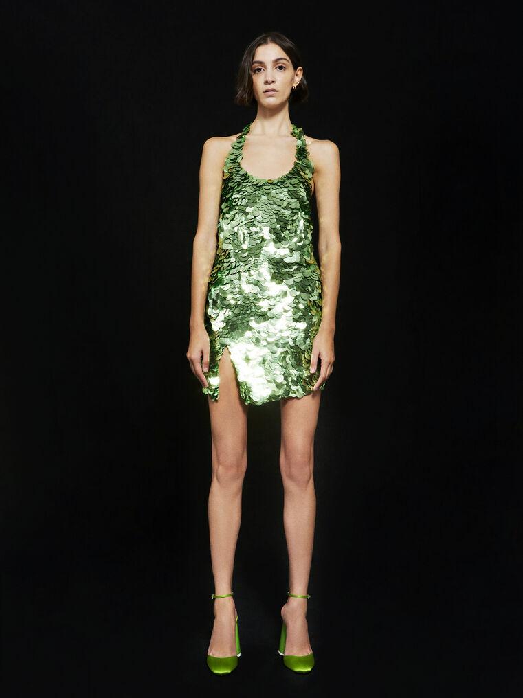 THE ATTICO ''Allium'' green mini dress 1