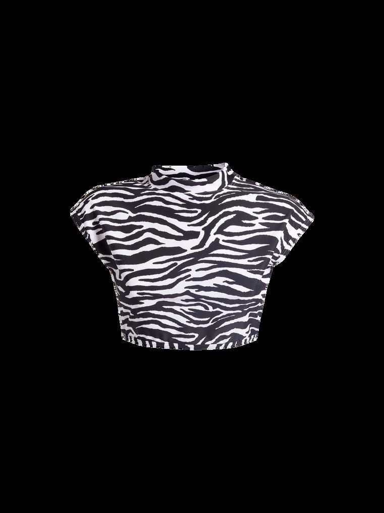 THE ATTICO Zebra printed bikini t-top 4