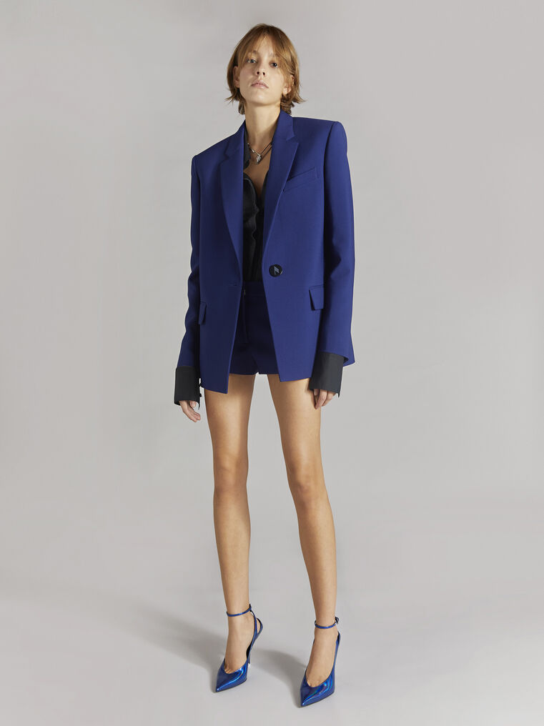 "THE ATTICO ""Bianca"" blue navy blazer jacket 1"