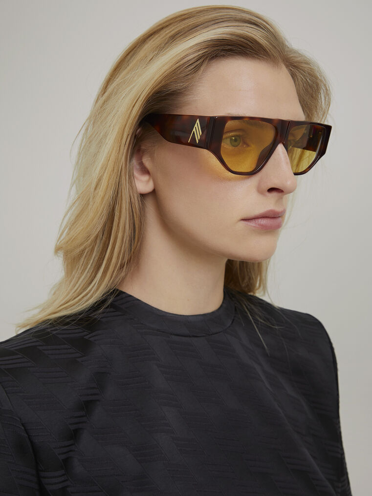 "The Attico ""Ivan"" tortoise effect sunglasses 1"